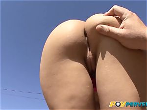 diminutive Gabriella Paltrova is pummeled Up Her cock-squeezing rump