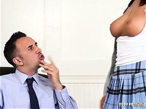 prick choking August Ames gets a facial cumshot