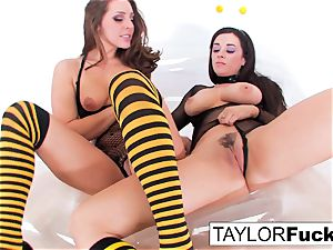 Taylor and Gracie Are fabulous Bumble Bees