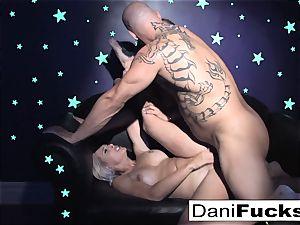 Dani has a steamy dark-hued light threesome