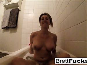 Brett Rossi takes a molten bath that makes her real insatiable