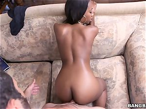 Chanell Heart penetrated by a humungous milky man meat