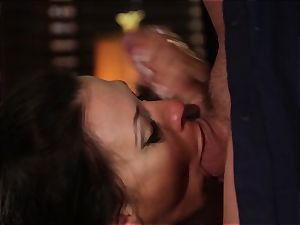 Rachel Starr poking an unexpected visitor