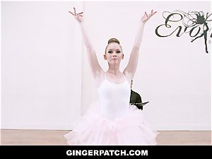 GingerPatch - redhead Ballerina riding Judges immense salami