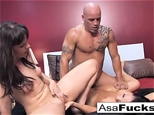 Asa and Dana squad up for a torrid 3some with Derrick