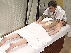 Pretty Marie McCray gets outer and internal rubdown
