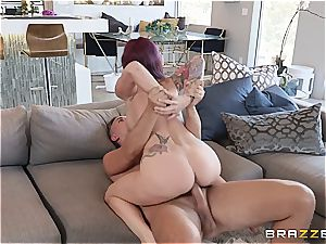 big-boobed cougar enjoys to get nasty with the help of her valet
