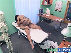 FakeHospital horny Russian babe disrobes and humps