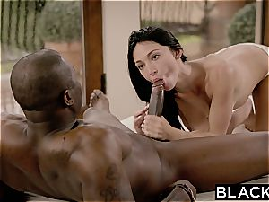 BLACKED first-ever enormous black man-meat For nubile Cyrstal Rae