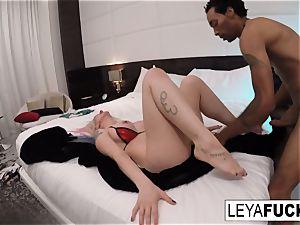 xxx anal invasion bi-racial poking with Leya Falcon