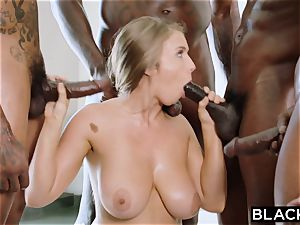 BLACKED Lena Paul first interracial gang-fuck