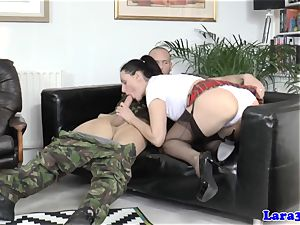 Balgagged mature brit ass plumbed by intimate