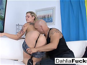 Getting pounded by Derrick on the couch